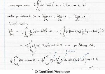 matemáticas, ecuaciones,