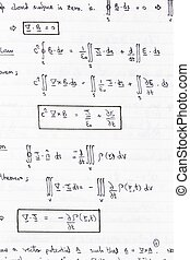 Physics equations - Study notes with equations of heat...