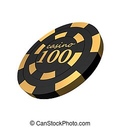 smooth black casino chip