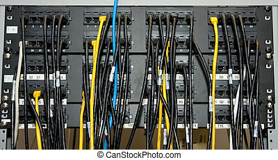 Ethernet Network Patch Panel - A network patch panel with...