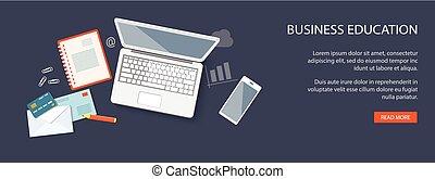 design for website of business education - Flat design...