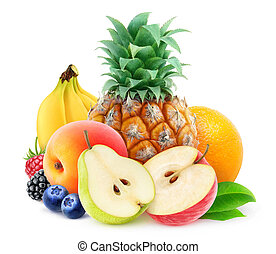 Pile of fresh fruits - Pile of various fresh fruits over...