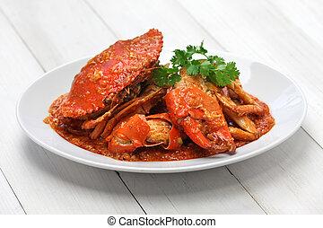 singapore chili crab - chilli mud crab, singapore cuisine