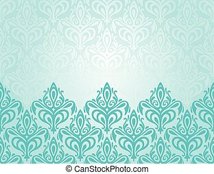 Turquoise decorative design