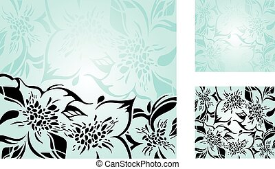 Turquoise floral decorative holiday