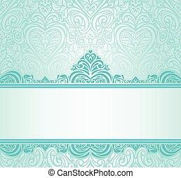 Turquoise invitation design