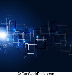 Abstract Communication Technology Background - abstract...