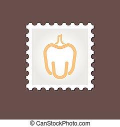 Pepper stamp. Outline vector illustration