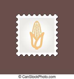 Corn stamp. Outline vector illustration