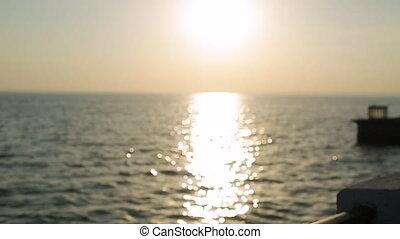 Girl dream on the sunset Slow motion - Girl dream on the...