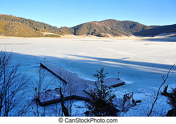 Pudacuo frozen Lake in China