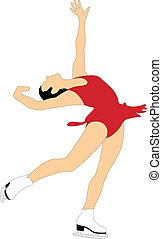 Figure skating - Abstract vector illustration of figure...