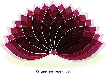 Lotus symbol flower logo art