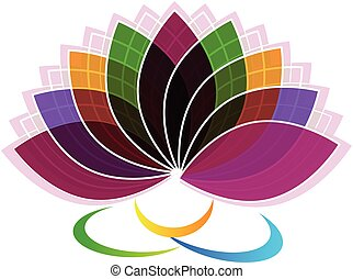 Lotus Flower identity card logo