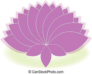 Lotus symbol flower logo vector