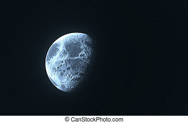 Blue moon or planet and stars