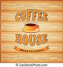 banner for coffee house - vector illustration banner for...
