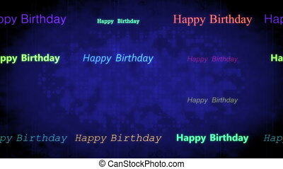 Happy birthday abstract background - Looping blue happy...