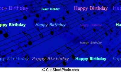 Happy birthday music background - Looping happy birthday...