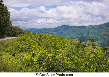 Smoky Mountains - Scenic view of the Blue Ridge and Smoky...