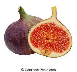 Fig fruit isolated on white background