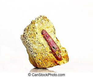 Natural ruby crystal - A natural red ruby corundum crystal...