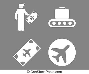 Aviation Icon Set These flat icons use white color Raster...