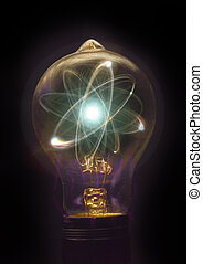 Lightbulb Atom Particle - Atomic particle as lightbulb...
