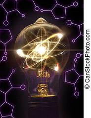 Lightbulb Atom Particle - Atomic particle as lightbulb...