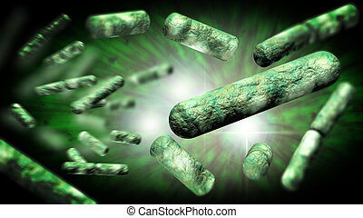 EColi Bacteria Cells - Escherichia coli also known as Ecoli...