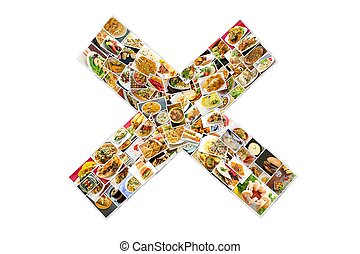 World Cuisine Collage X - Collage of lots of popular...