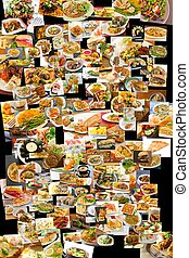 World Cuisine Collage - Collage of lots of popular worldwide...