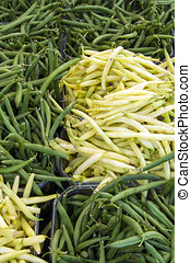 String beans - A bunch of yellow and green String beans