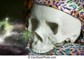 Crystal Ball Universe Skull