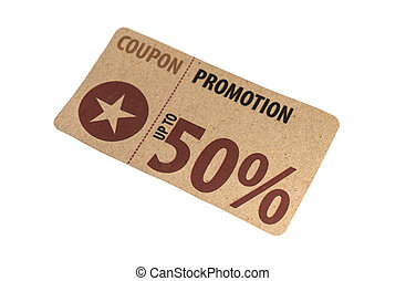 Sale Coupon, voucher, tag Vintage Style