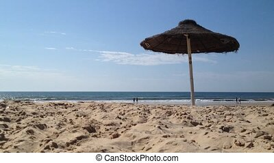View of Praia Verde in Castro Marim, Algarve, Portugal Straw...