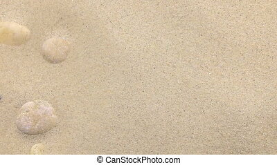 sand from white and black stones