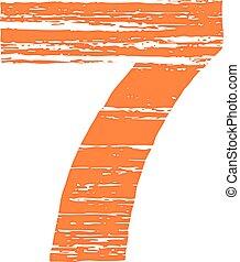 Grunge Logo Number 7 Scrape Style