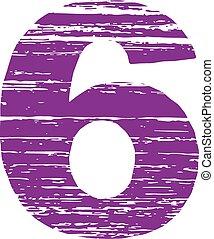 Grunge Logo Number6. Scrape Style.