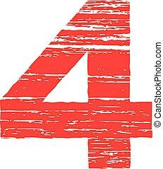 Grunge Logo Number 4 Scrape Style
