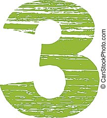 Grunge Logo Number 3 Scrape Style