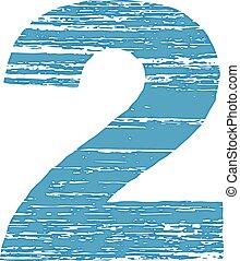 Grunge Logo Number 2 Scrape Style