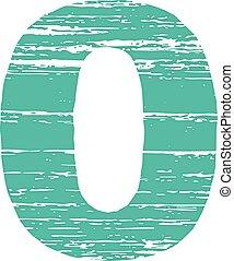 Grunge Logo Number zero Scrape Style