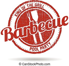 BBQ Barbecue Menu Stamp graphic