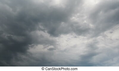 Moving Clouds - White, rain, gray, haze, dark, black, storm...