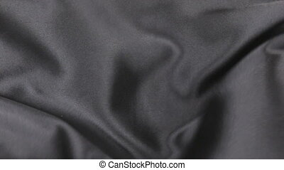 Wavy motion black fabric