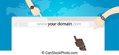 domain name web business internet concept url vector