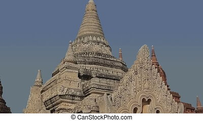 White Temple in Bagan - Ancient white small pagoda in Bagan...