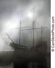 Discoveries caravel - Replica of old discoveries caravel in...