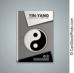 Brochure cover template - Yin and Yang brochure or book...